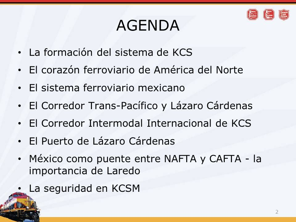 AGENDA La formación del sistema de KCS