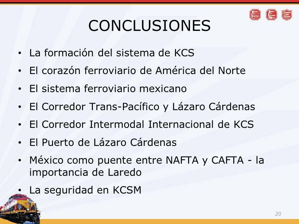 CONCLUSIONES La formación del sistema de KCS