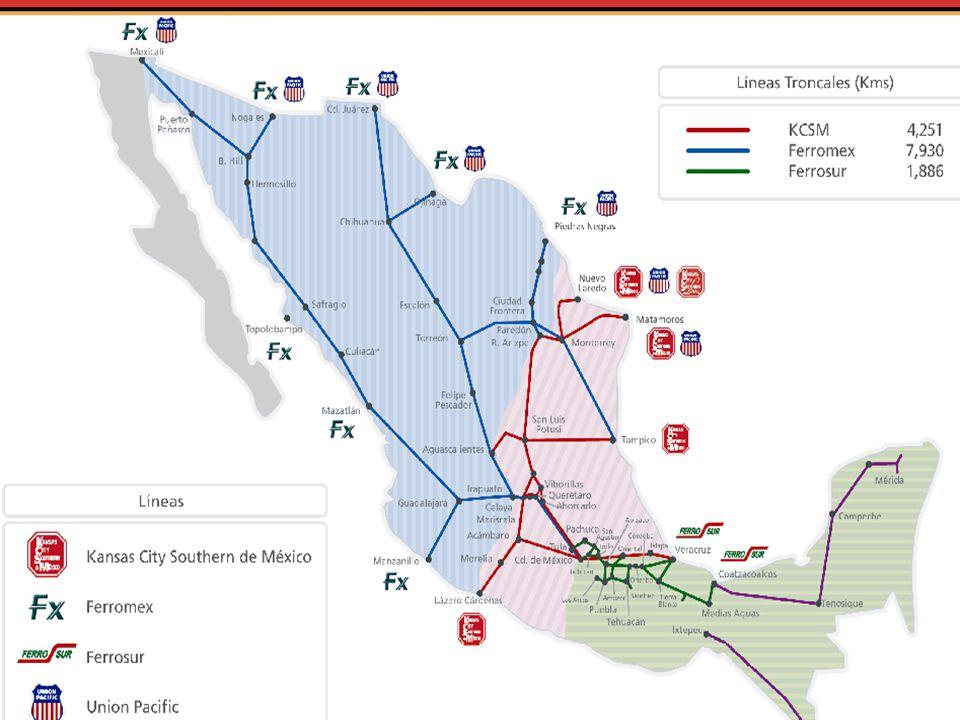 El sistema ferroviario mexicano