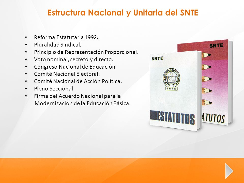 Estructura Nacional y Unitaria del SNTE