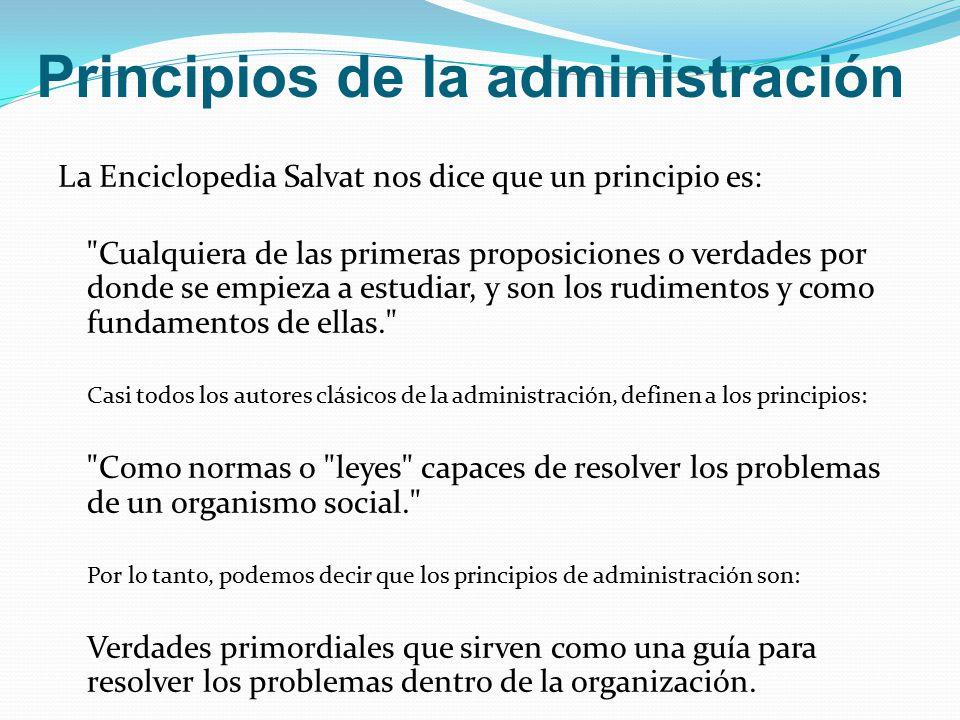 . Principios de la administración