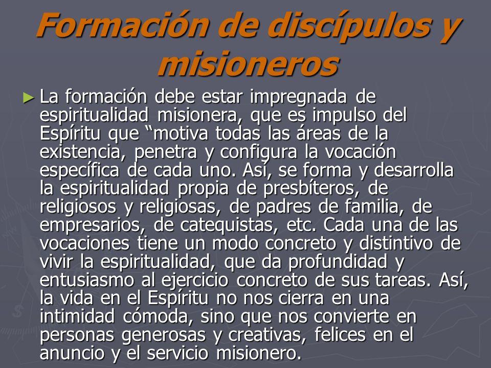 Formación de discípulos y misioneros