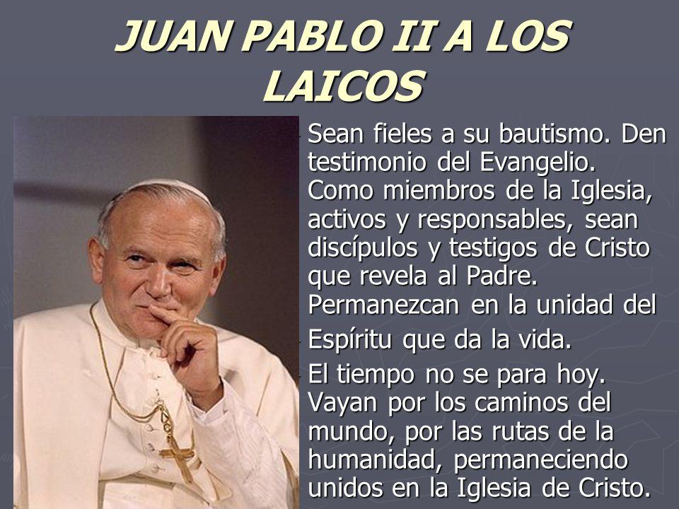 JUAN PABLO II A LOS LAICOS