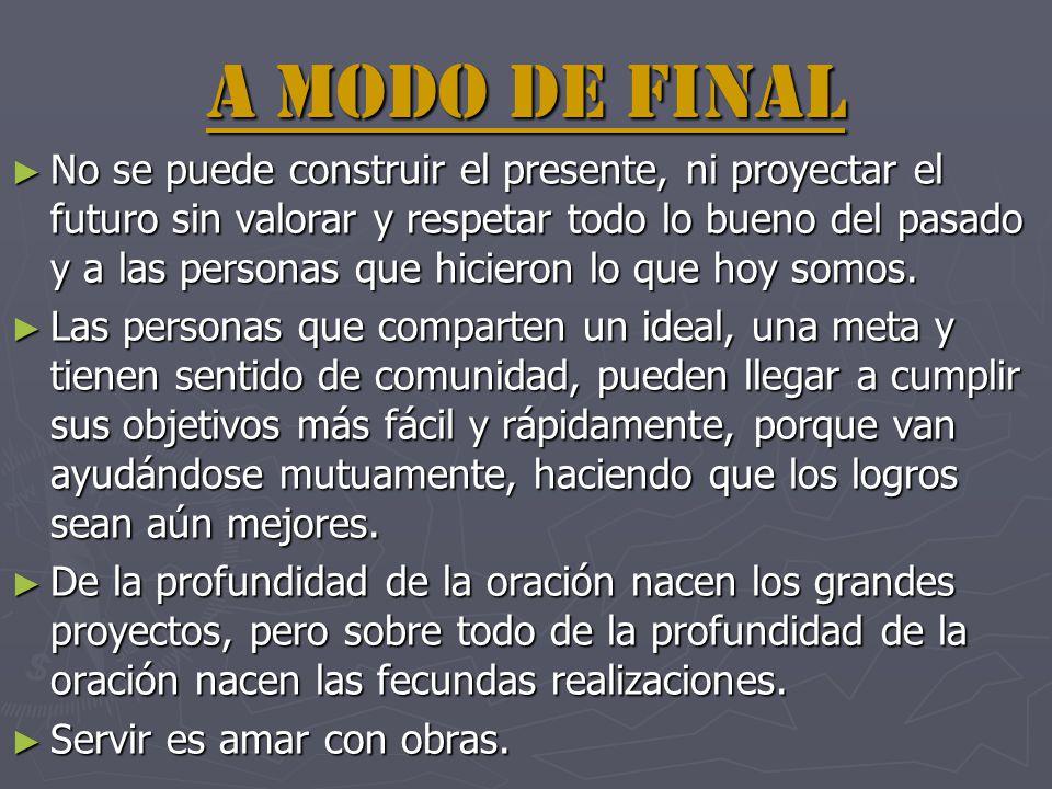 A MODO DE FINAL