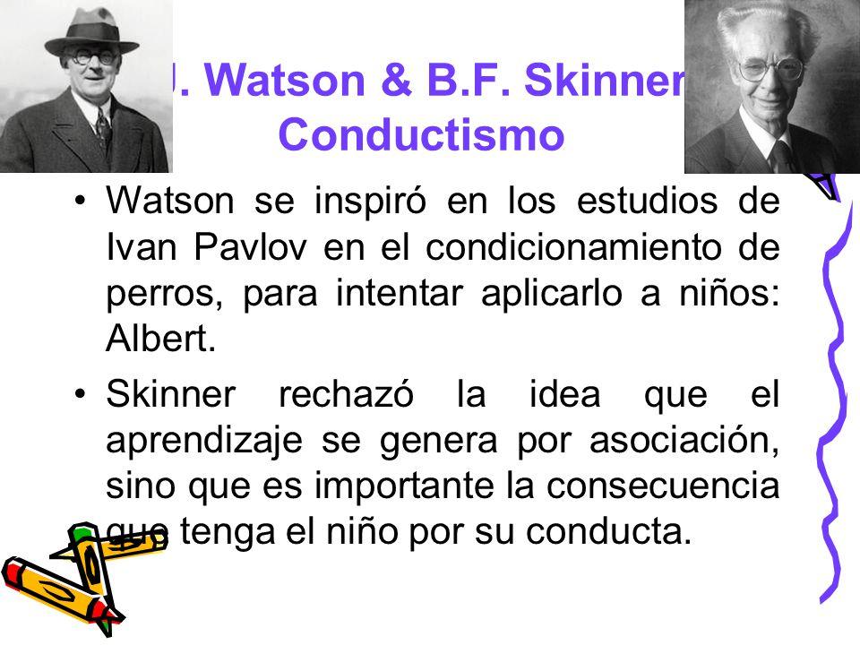 J. Watson & B.F. Skinner Conductismo