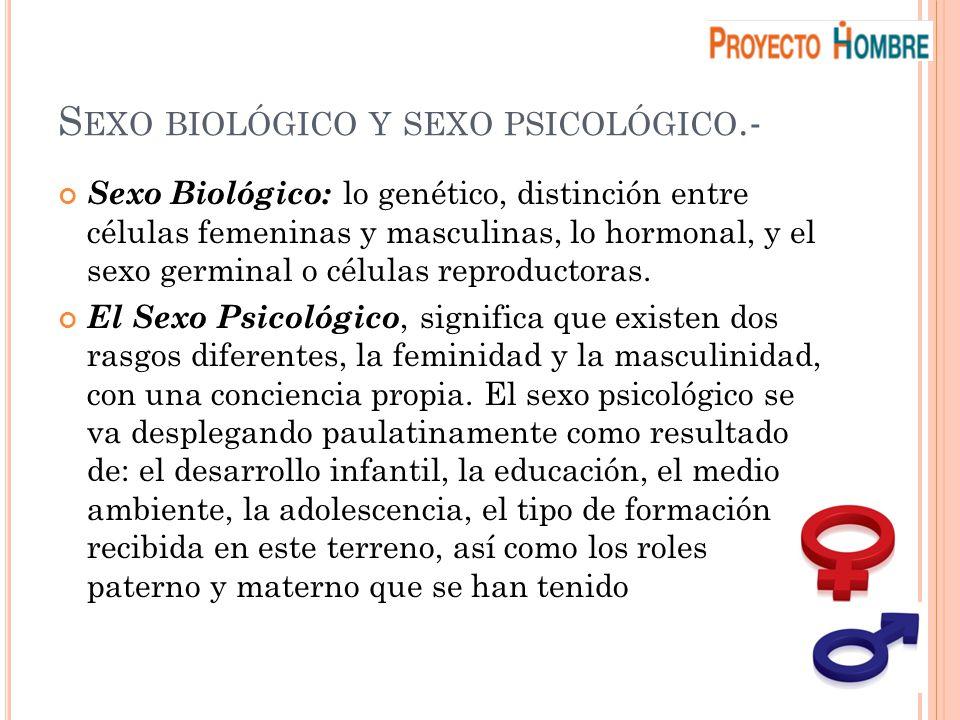 Sexo biológico y sexo psicológico.-