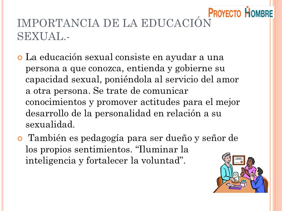 IMPORTANCIA DE LA EDUCACIÓN SEXUAL.-