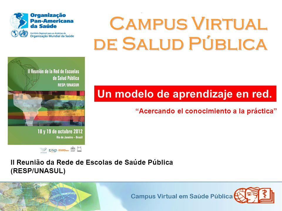 Campus Virtual de Salud Pública Un modelo de aprendizaje en red.