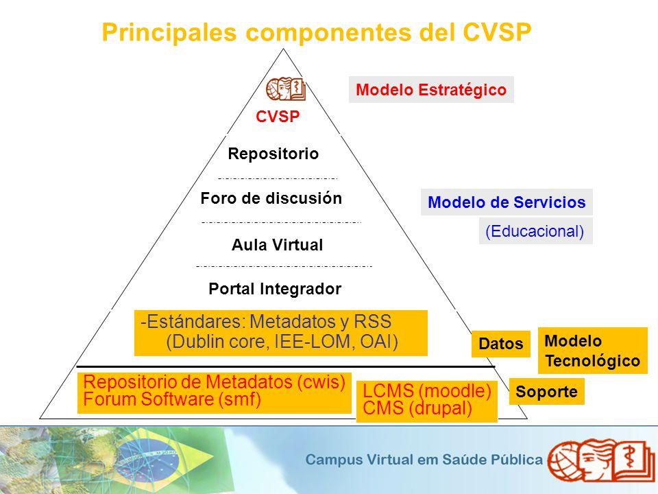 Principales componentes del CVSP