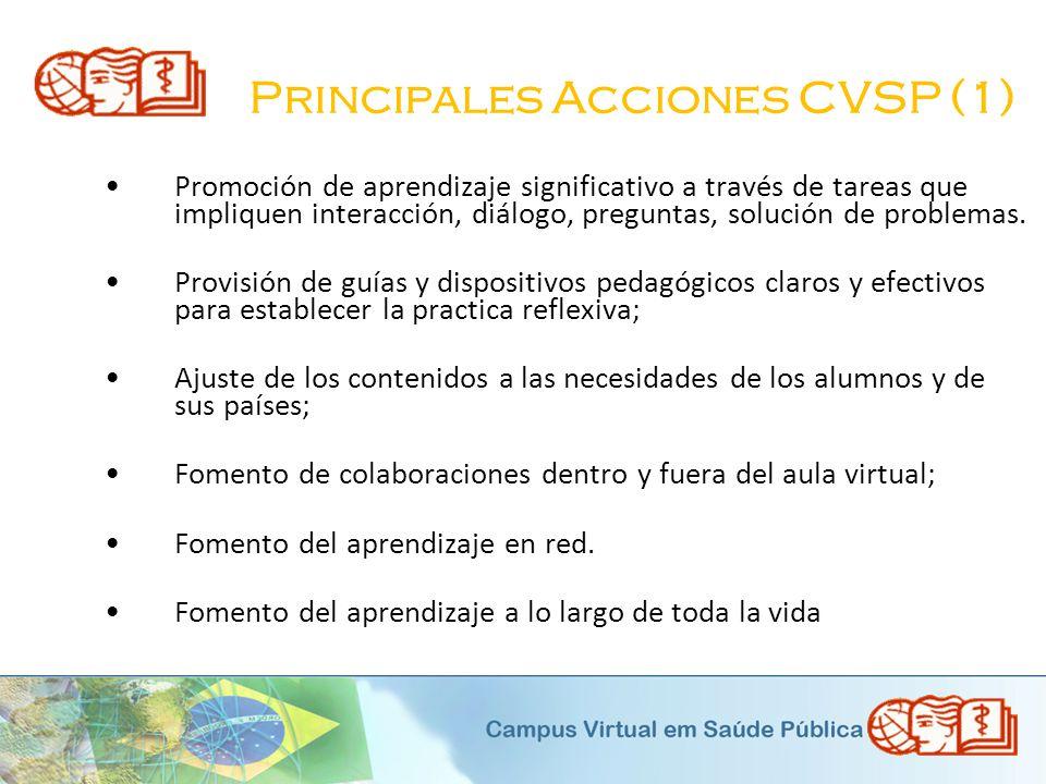 Principales Acciones CVSP (1)