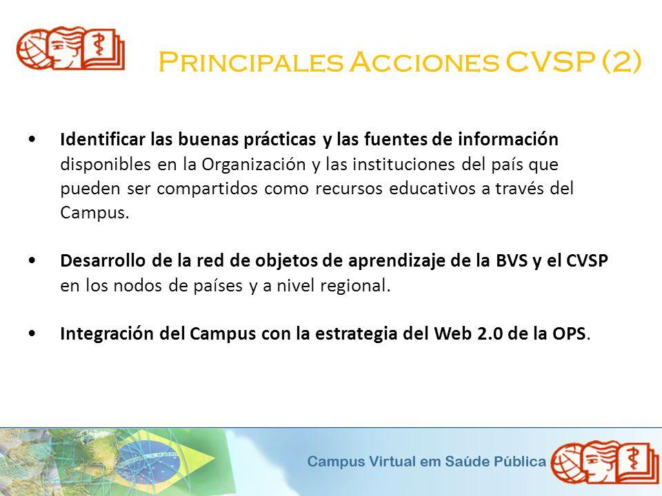 Principales Acciones CVSP (2)
