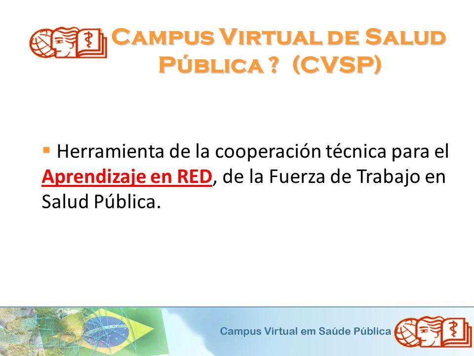 ¿ Campus Virtual de Salud Pública (CVSP)