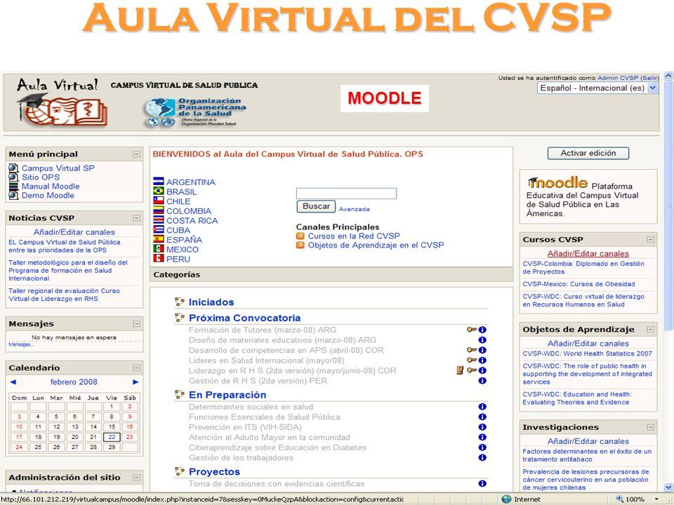 Aula Virtual del CVSP MOODLE