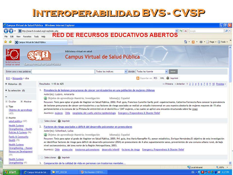 Interoperabilidad BVS - CVSP
