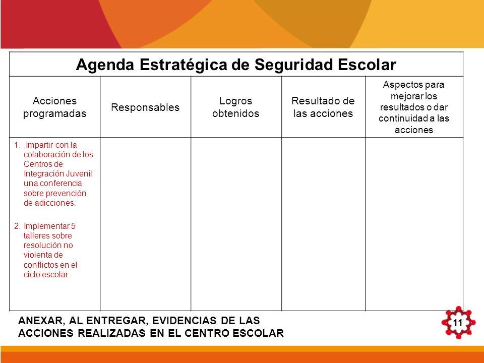 Agenda Estratégica de Seguridad Escolar