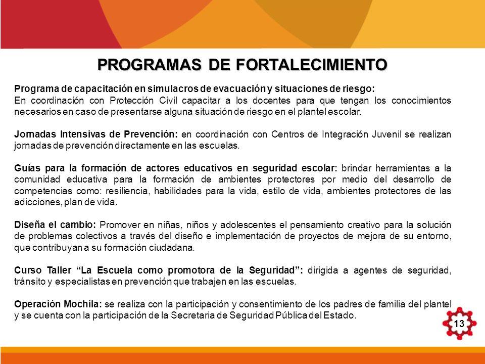 PROGRAMAS DE FORTALECIMIENTO