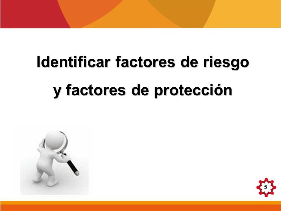 Identificar factores de riesgo y factores de protección