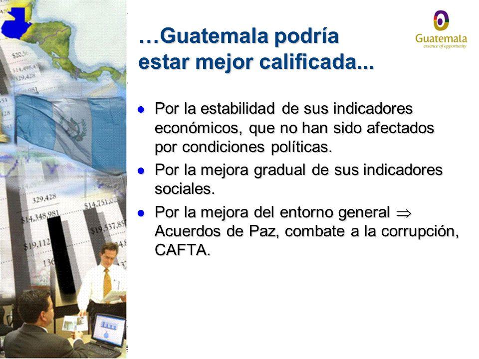 …Guatemala podría estar mejor calificada...