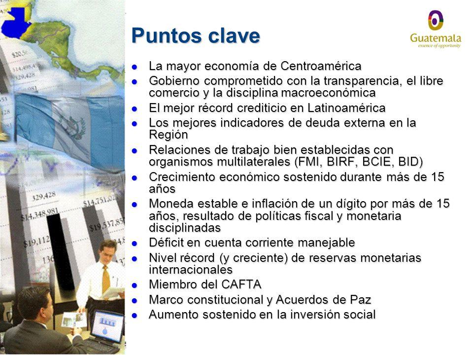 Puntos clave La mayor economía de Centroamérica