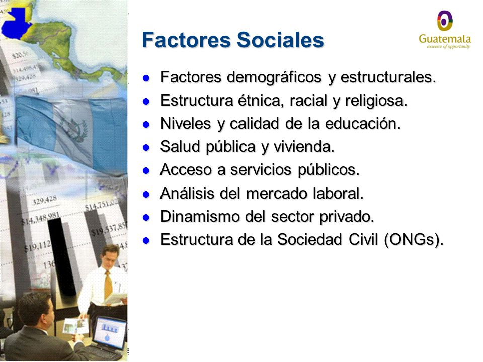 Factores Sociales Factores demográficos y estructurales.