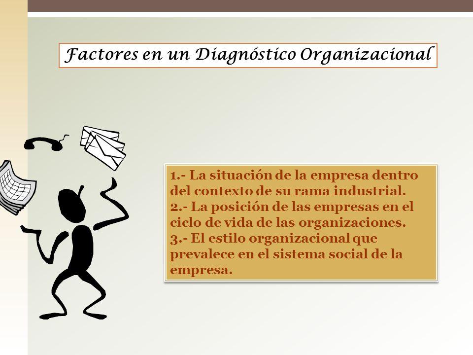 Factores en un Diagnóstico Organizacional