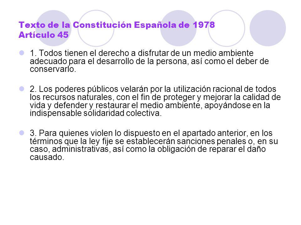 Texto de la Constitución Española de 1978