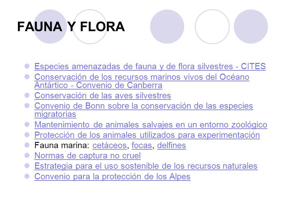 FAUNA Y FLORA Especies amenazadas de fauna y de flora silvestres - CITES.