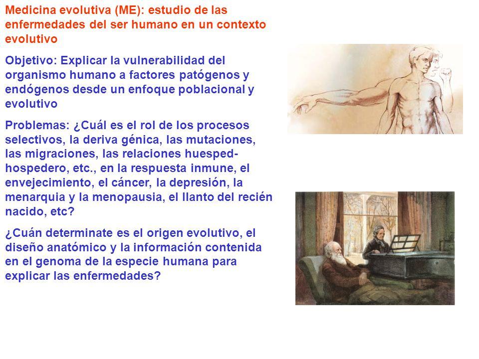 Medicina evolutiva (ME): estudio de las enfermedades del ser humano en un contexto evolutivo
