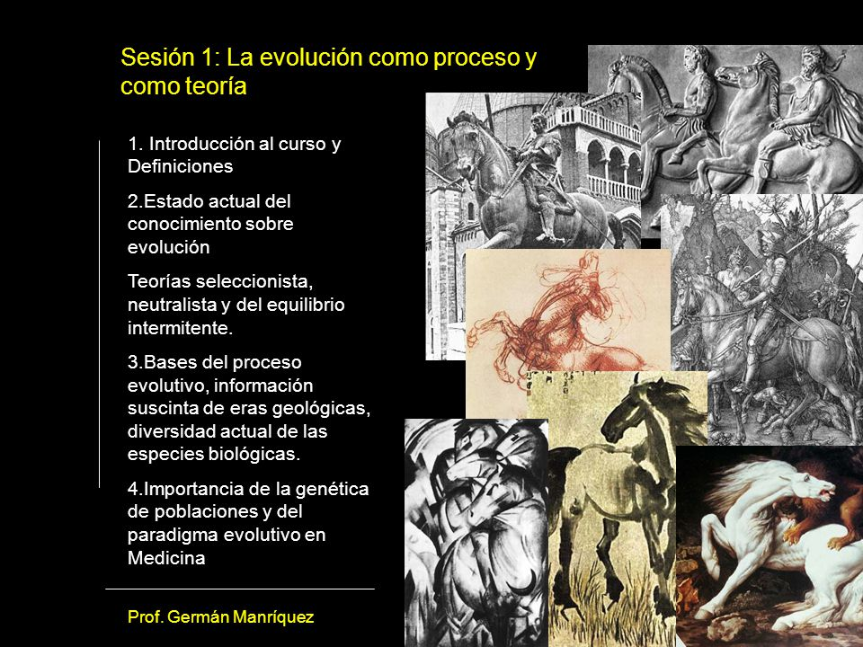 Sesión 1: La evolución como proceso y como teoría