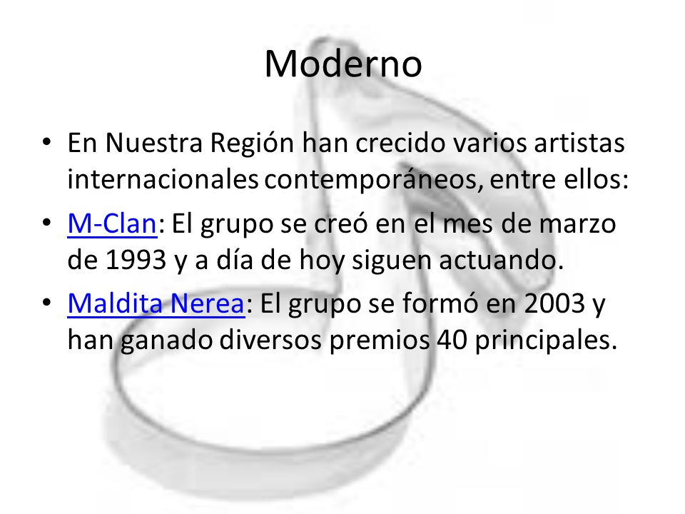 Moderno En Nuestra Región han crecido varios artistas internacionales contemporáneos, entre ellos: