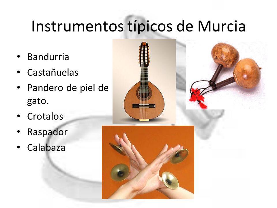 Instrumentos típicos de Murcia