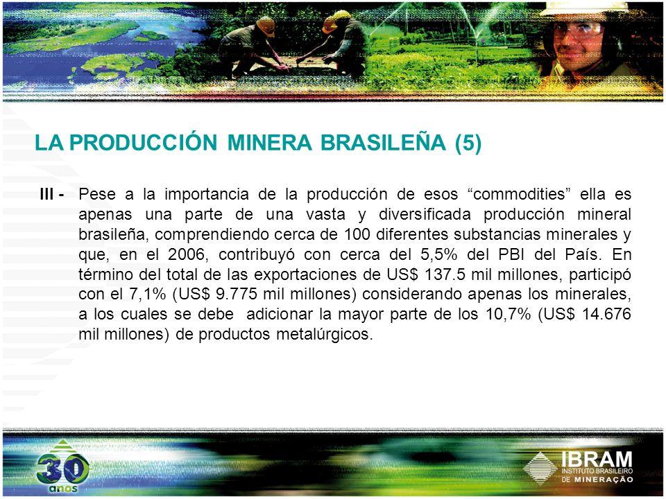 LA PRODUCCIÓN MINERA BRASILEÑA (5)