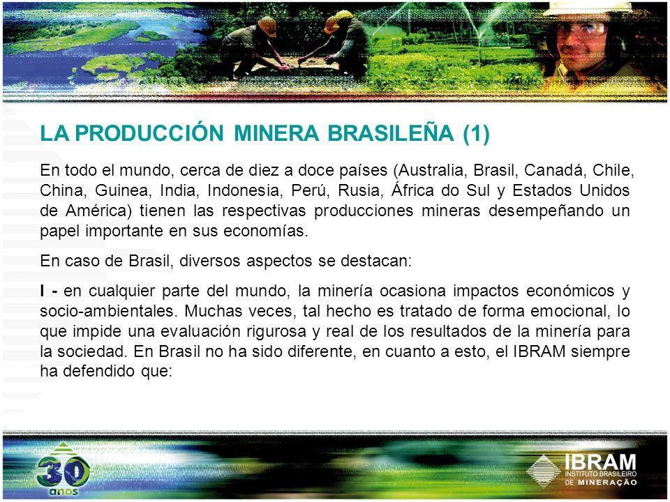LA PRODUCCIÓN MINERA BRASILEÑA (1)