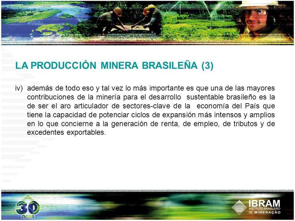 LA PRODUCCIÓN MINERA BRASILEÑA (3)