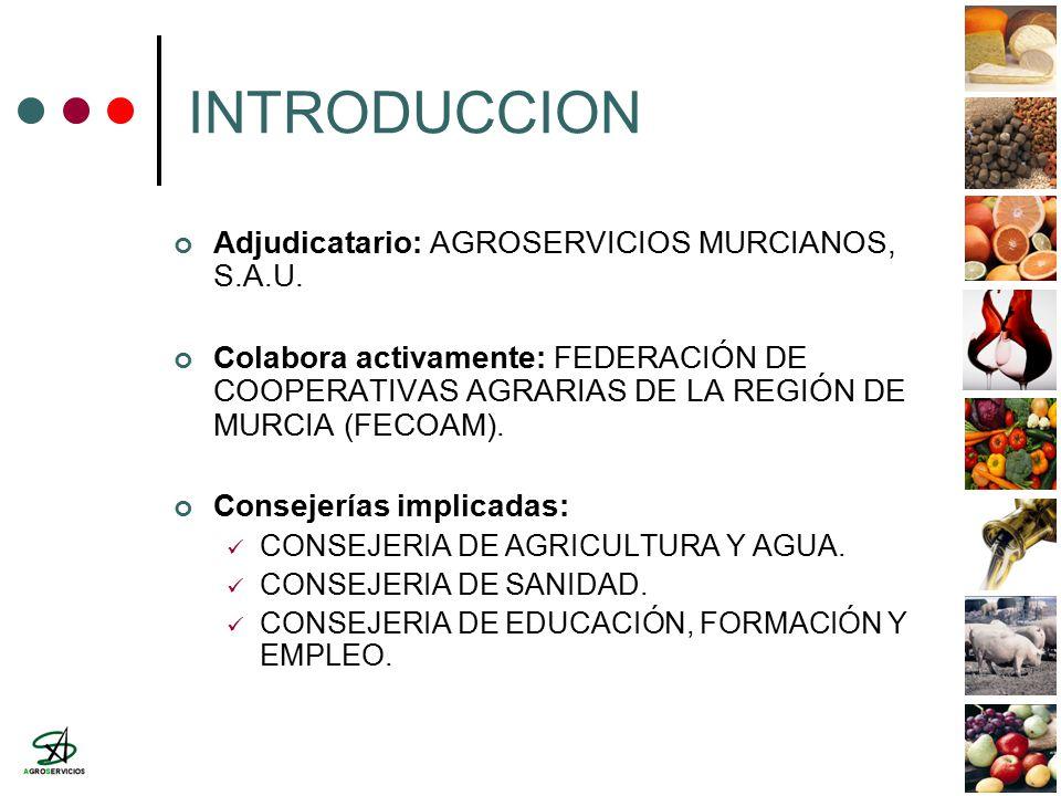INTRODUCCION Adjudicatario: AGROSERVICIOS MURCIANOS, S.A.U.