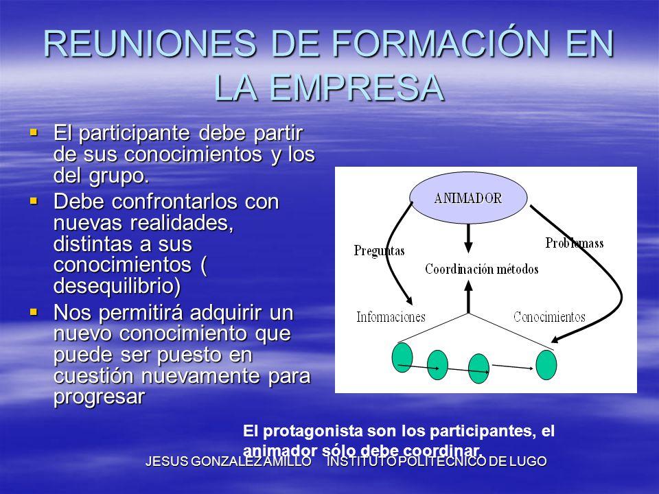 REUNIONES DE FORMACIÓN EN LA EMPRESA