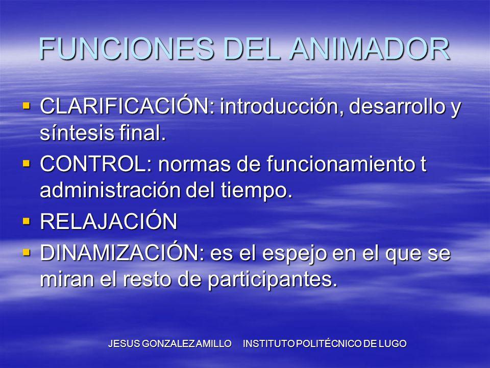 FUNCIONES DEL ANIMADOR