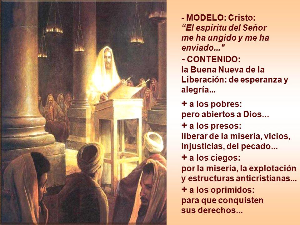 + a los pobres: pero abiertos a Dios...