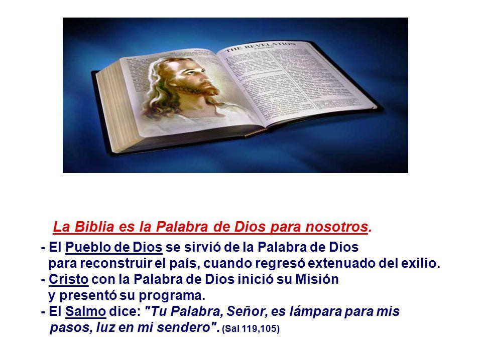 La Biblia es la Palabra de Dios para nosotros.