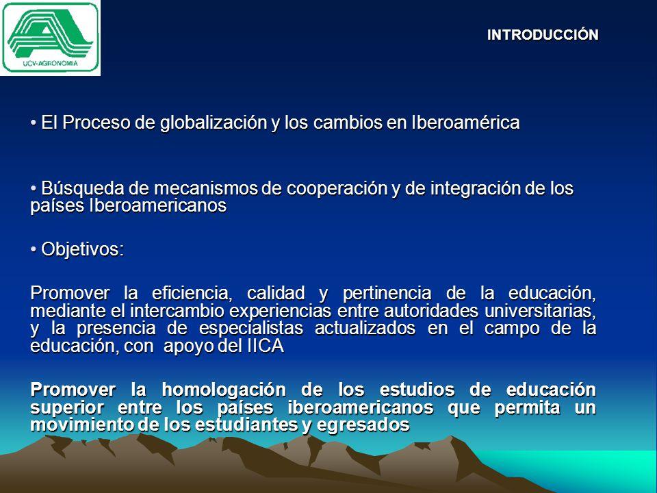 El Proceso de globalización y los cambios en Iberoamérica