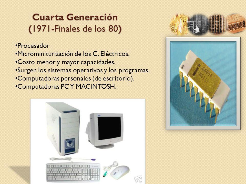 Cuarta Generación (1971-Finales de los 80)