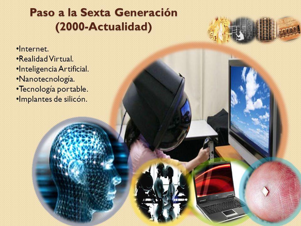 Paso a la Sexta Generación (2000-Actualidad)