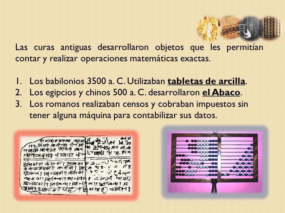 Las curas antiguas desarrollaron objetos que les permitían contar y realizar operaciones matemáticas exactas.