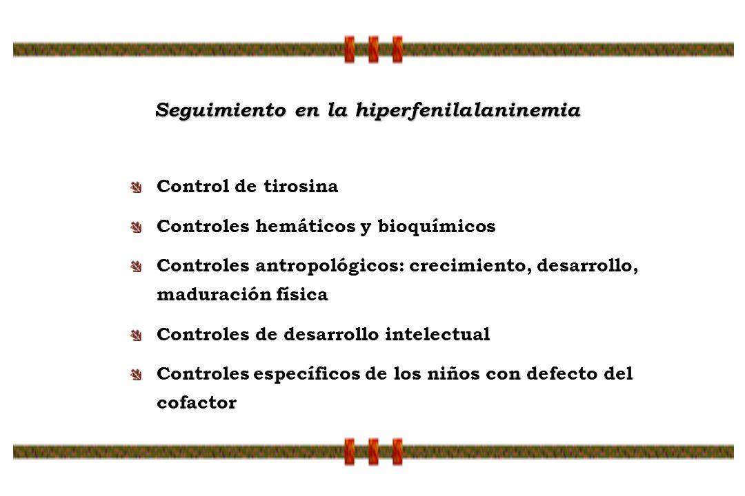 Seguimiento en la hiperfenilalaninemia