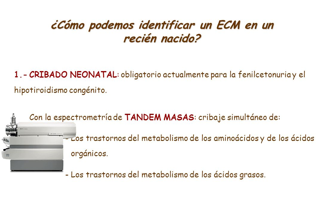 ¿Cómo podemos identificar un ECM en un recién nacido