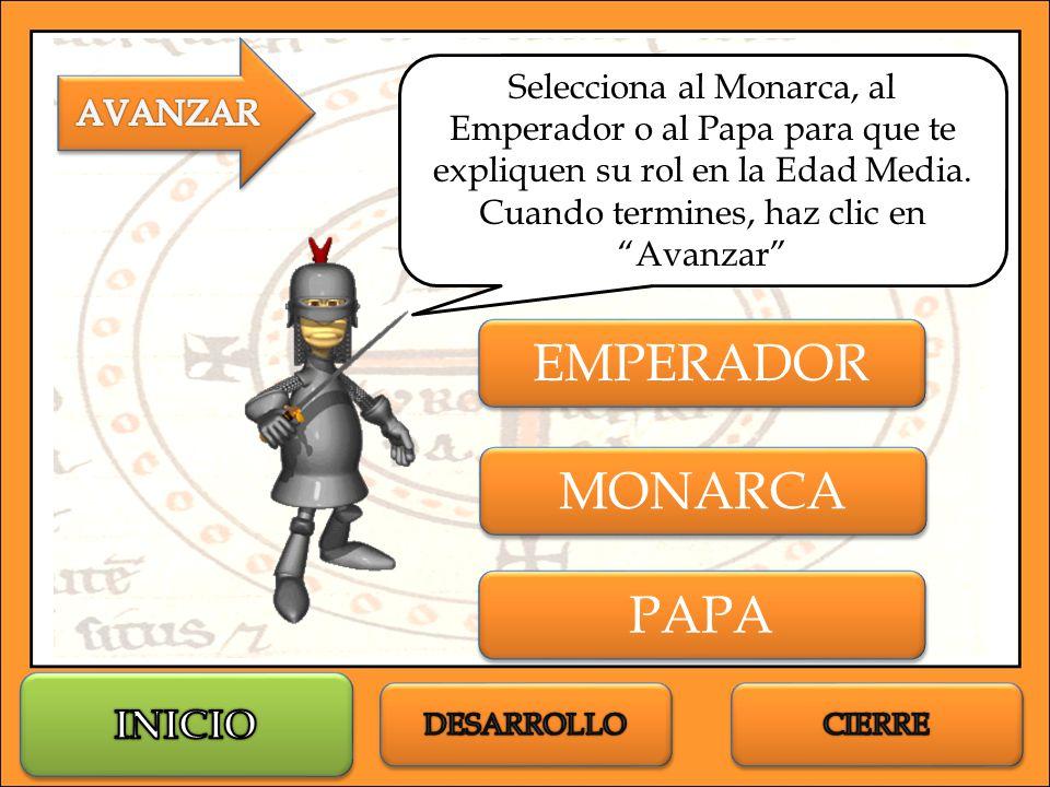EMPERADOR MONARCA PAPA INICIO