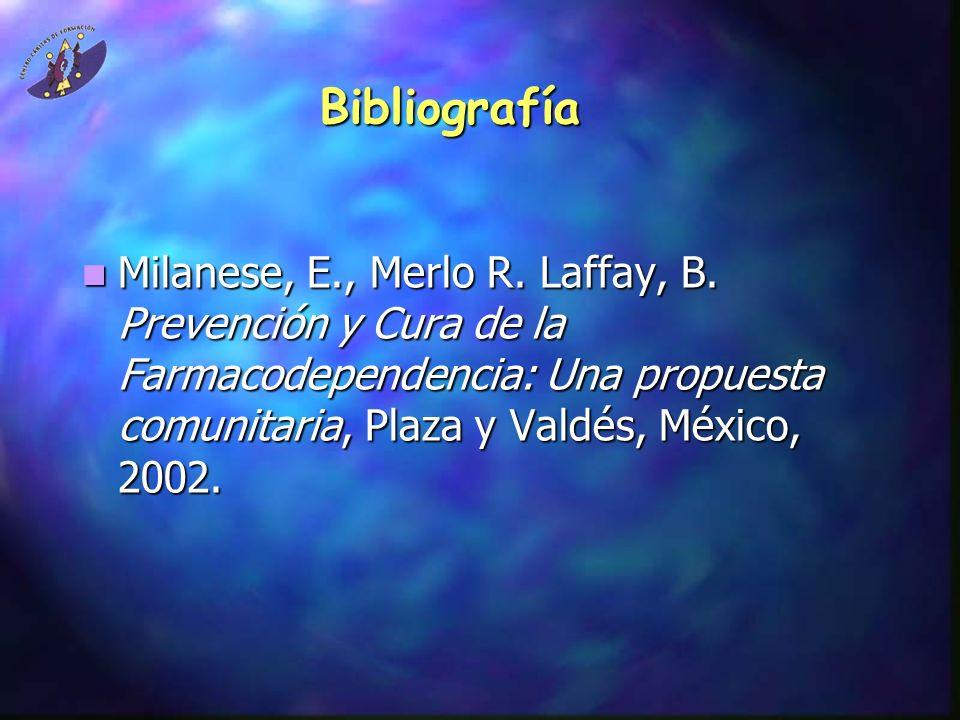 Bibliografía Milanese, E., Merlo R. Laffay, B.