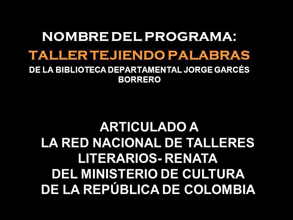 TALLER TEJIENDO PALABRAS