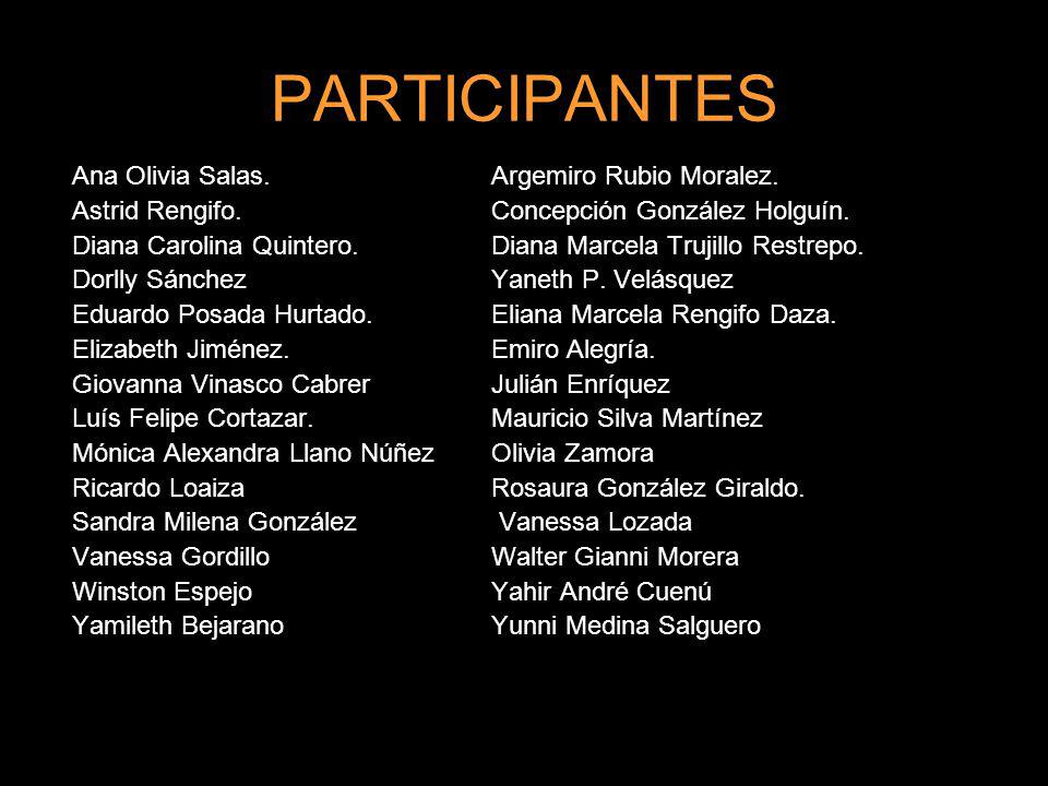 PARTICIPANTES Ana Olivia Salas. Argemiro Rubio Moralez.