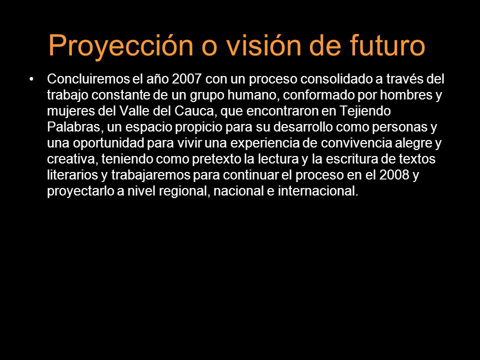 Proyección o visión de futuro